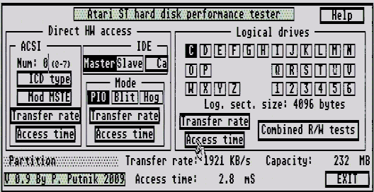 Atari IDE disk interface